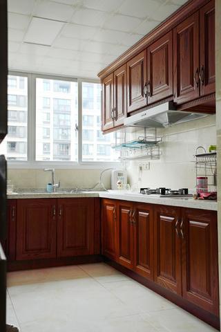 中式二居室装修厨房构造图