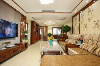 中式二居室装修客厅效果图