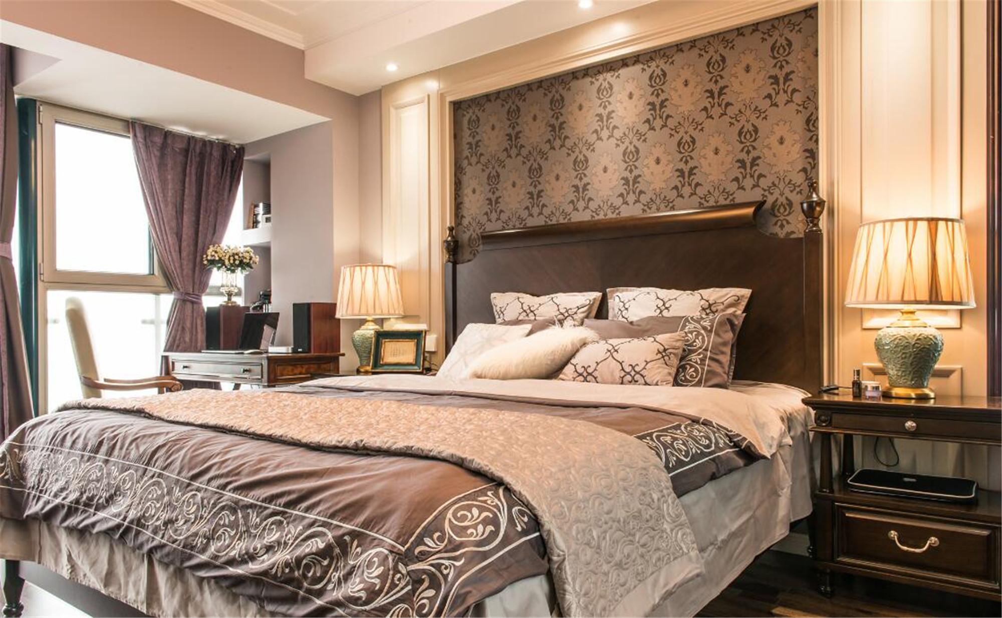 美式二居室装修主卧设计图