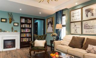 美式二居室装修客厅装饰摆件