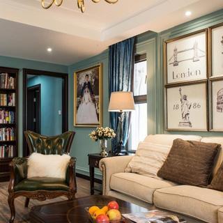 美式二居室装修效果图
