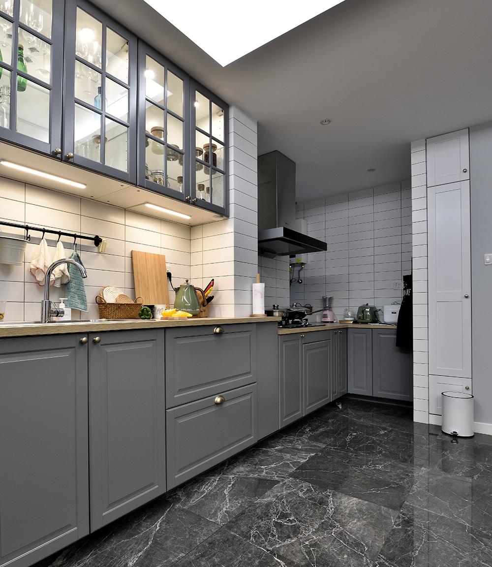 90㎡北欧风之家厨房设计图