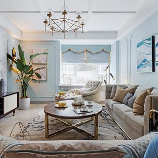 三居室美式风格家 静谧雅致