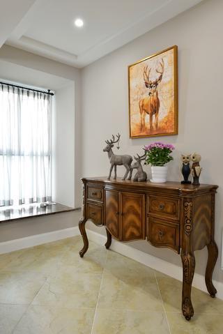 160平美式装修餐边柜图片
