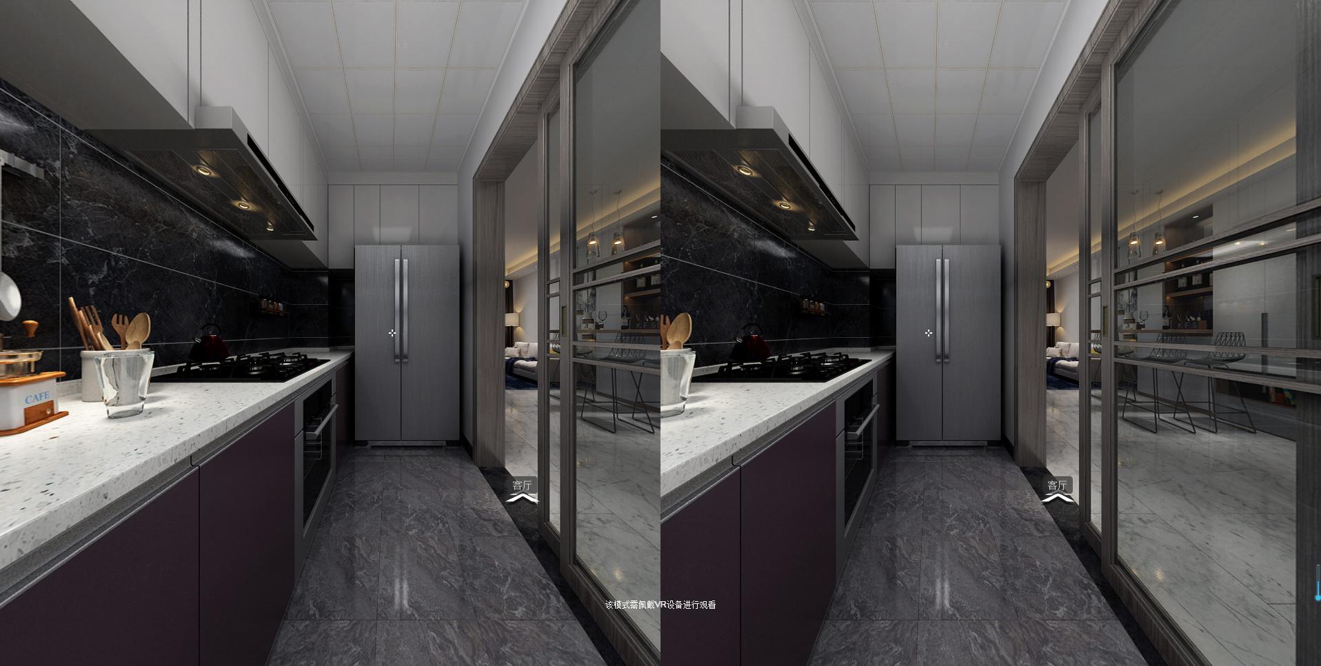 三居室简约装修厨房效果图