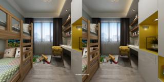 三居室简约装修儿童房设计图