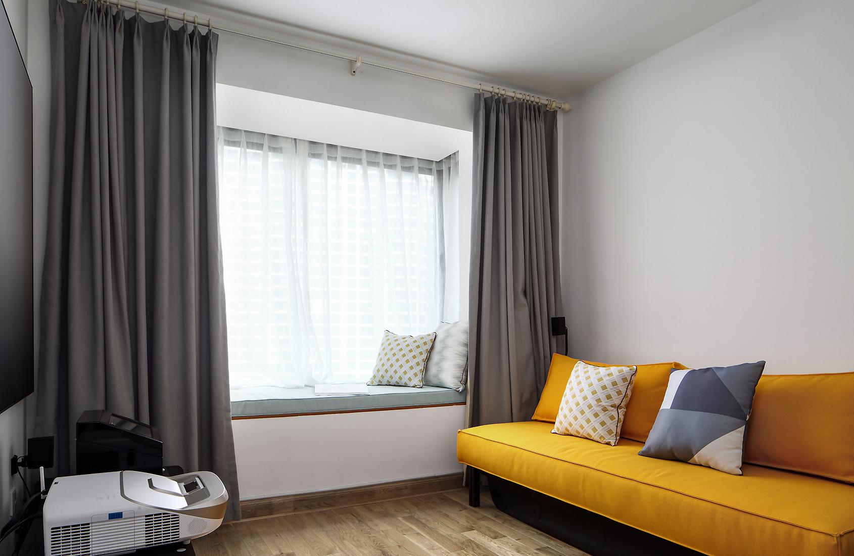 现代北欧风之家卧室休闲区
