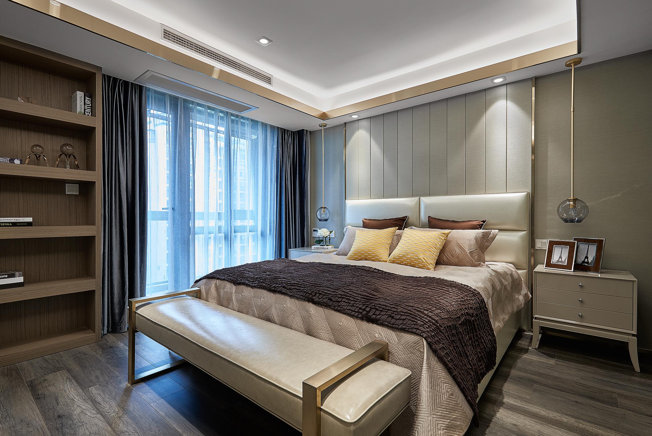 130㎡简约风格设计卧室效果图