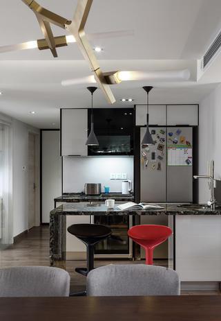 现代北欧风之家吧台设计