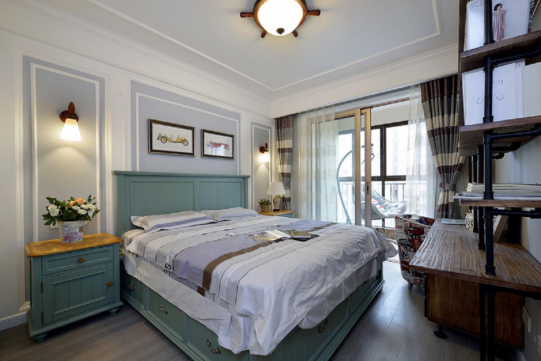 三居室美式卧室设计图