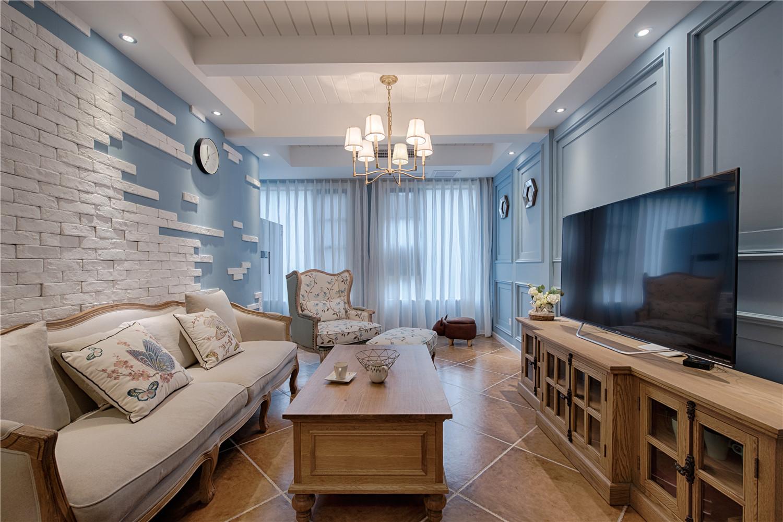 美式复式装修客厅效果图