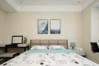 三居室简约家卧室背景墙图片
