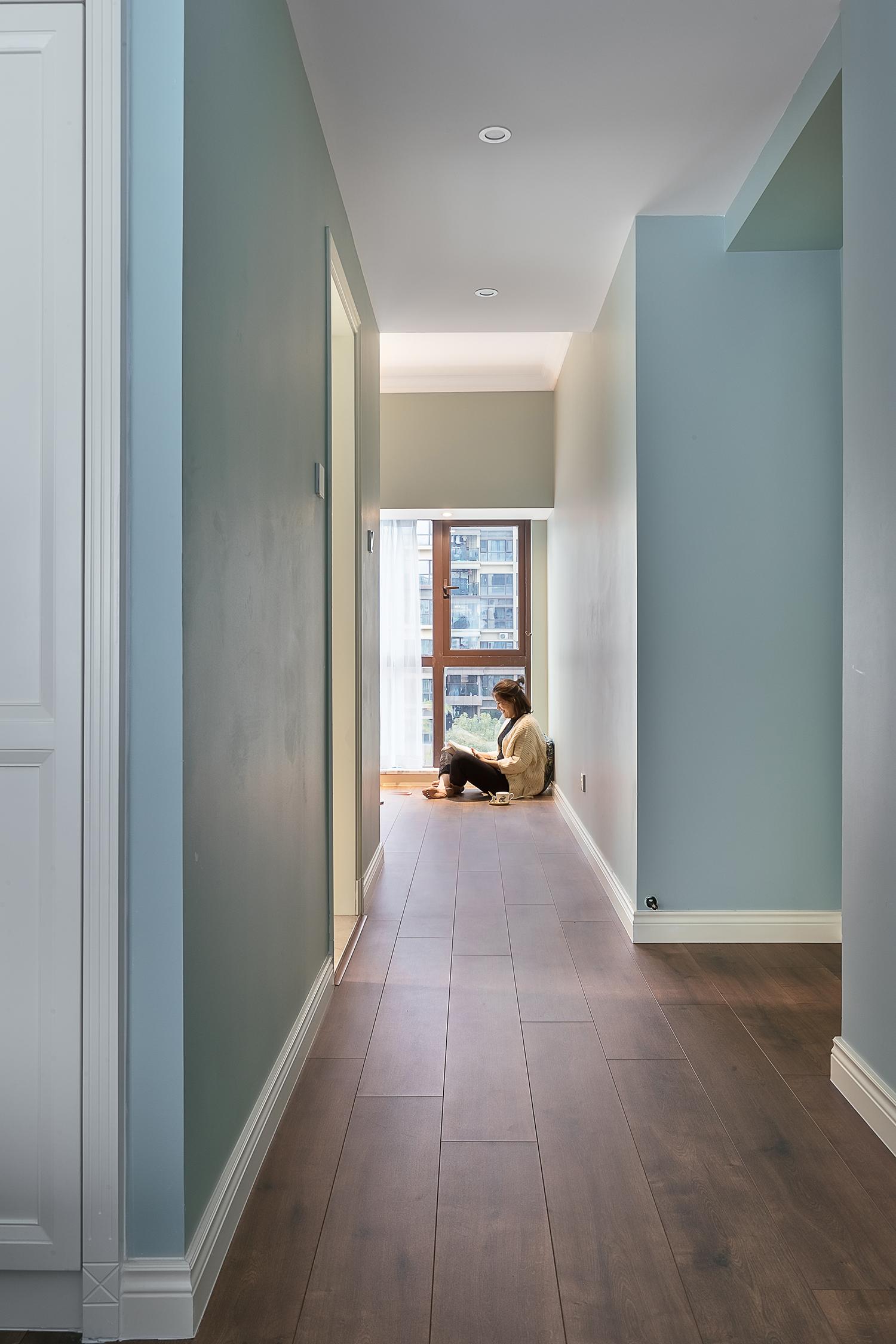 160㎡现代美式装修卧室走廊