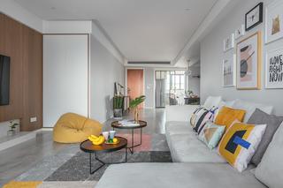 三居室现代简约装修边几图片