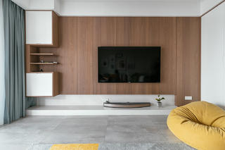 三居室现代简约装修电视背景墙