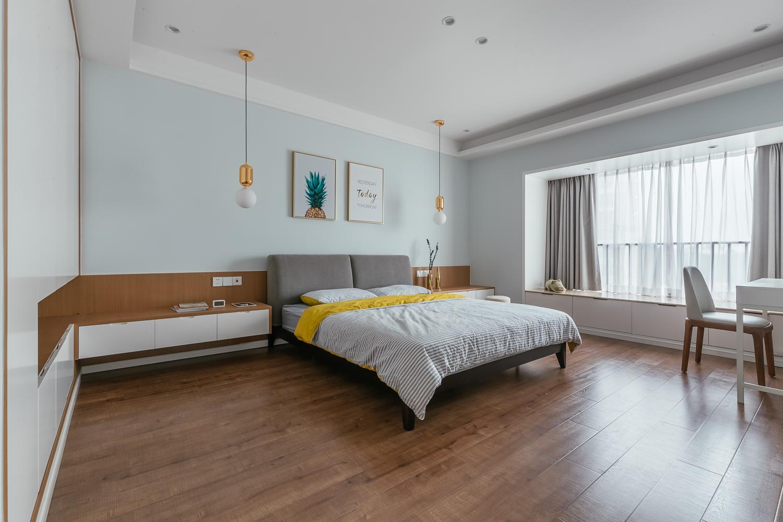 三居室现代简约装修卧室效果图