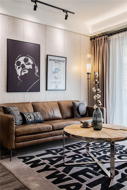 80㎡loft风格装修沙发图片