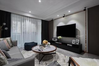 140平现代简约设计电视背景墙