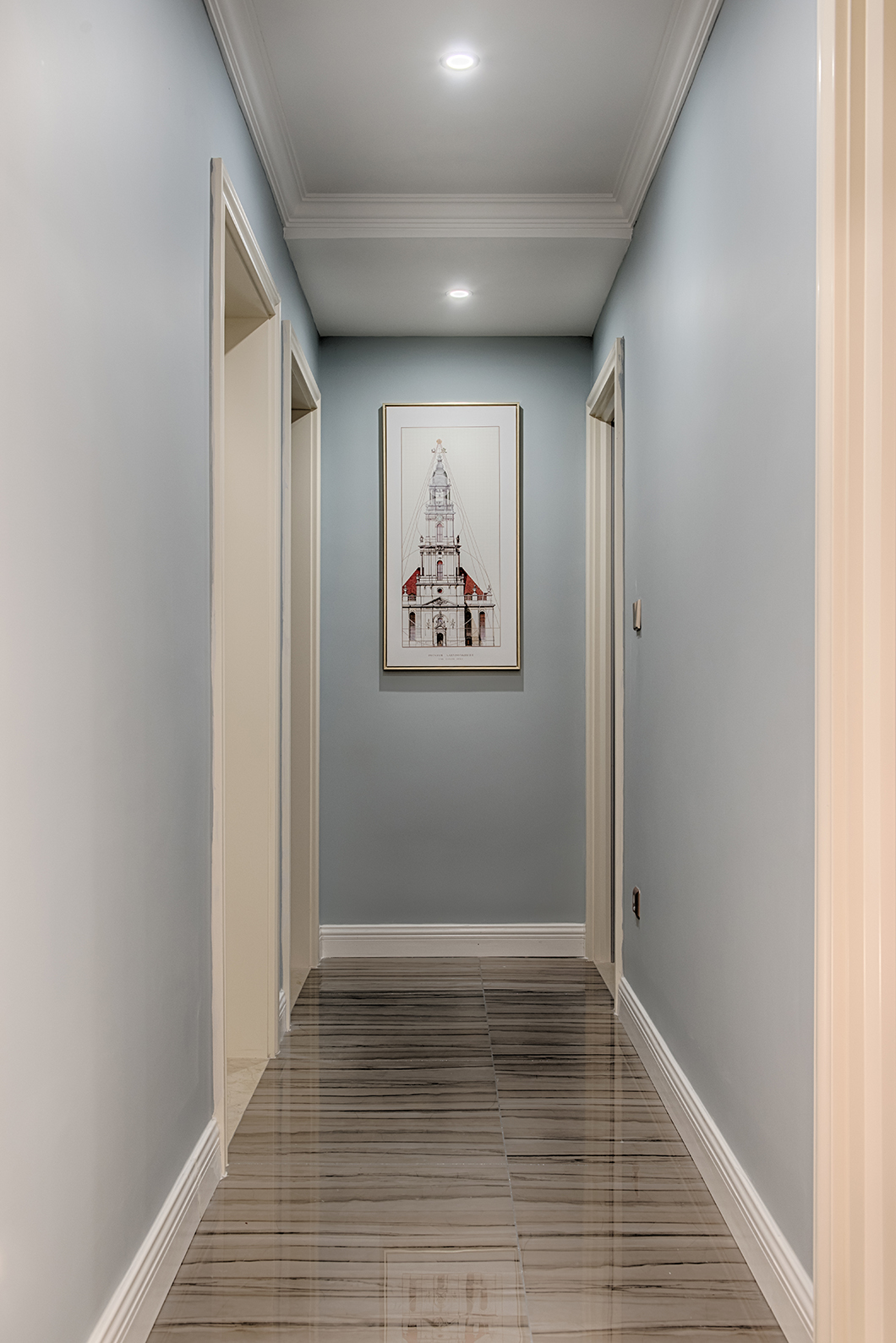 三居室简约美式家门厅走廊