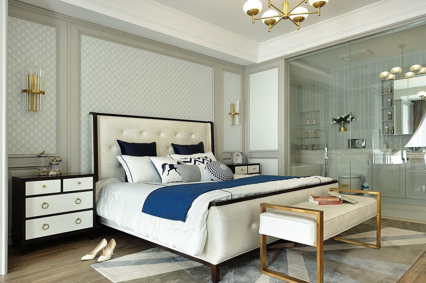 四居室现代美式装修卧室效果图