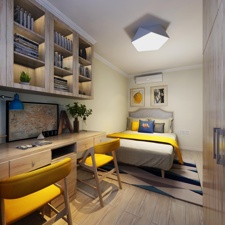 90㎡二居室设计卧室欣赏图