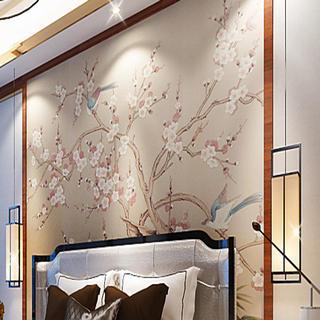 100平新中式之家床头背景墙