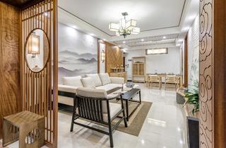 中式三居室设计屏风隔断