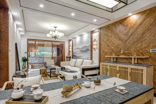 中式三居室设计客餐厅欣赏图