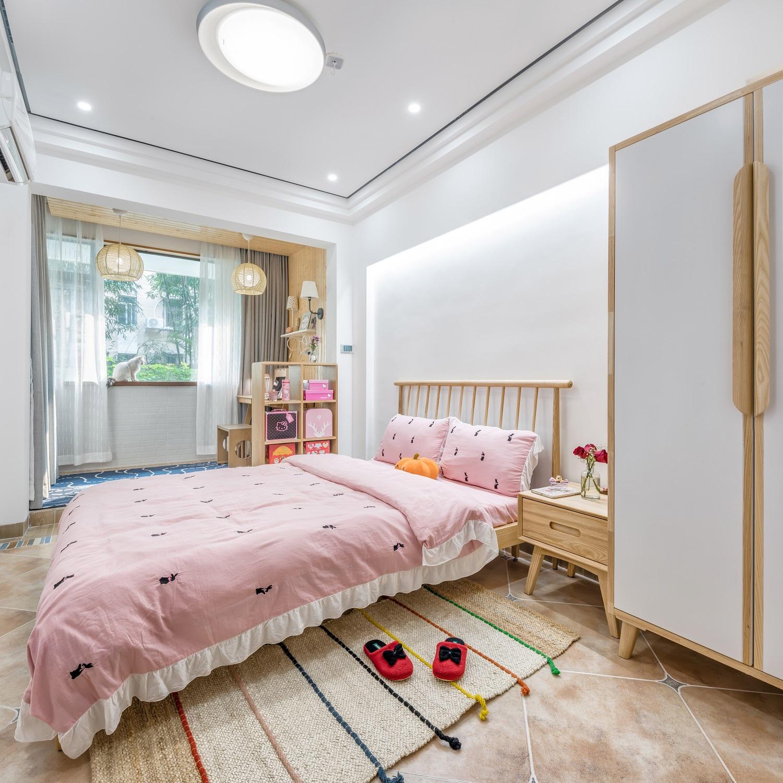 中式三居室设计卧室效果图