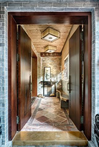 中式三居室玄关设计