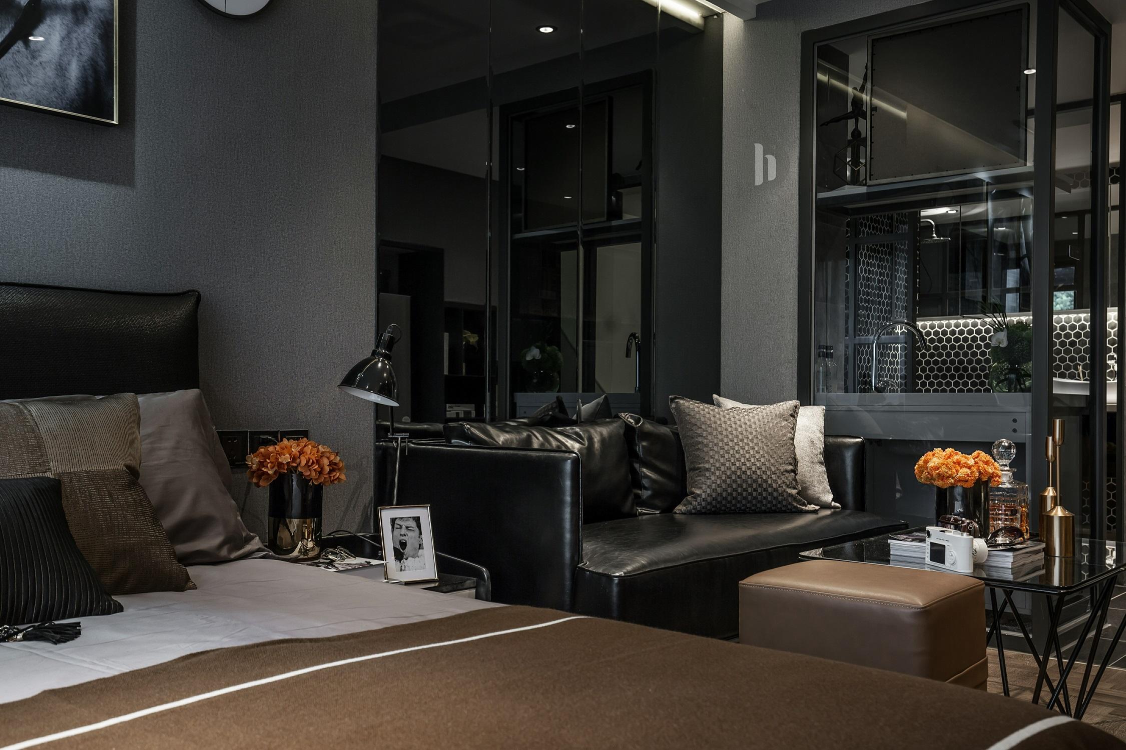 二居室公寓装修沙发茶几图片