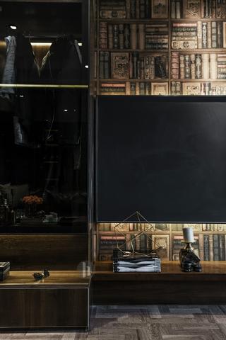 二居室公寓裝修電視背景墻圖片