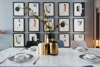 110㎡现代风格家餐厅背景墙图片