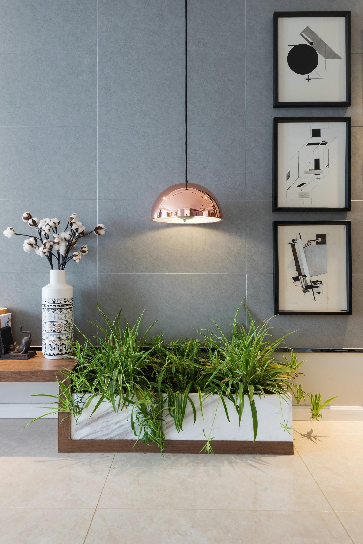 110㎡现代风格家室内绿植图片