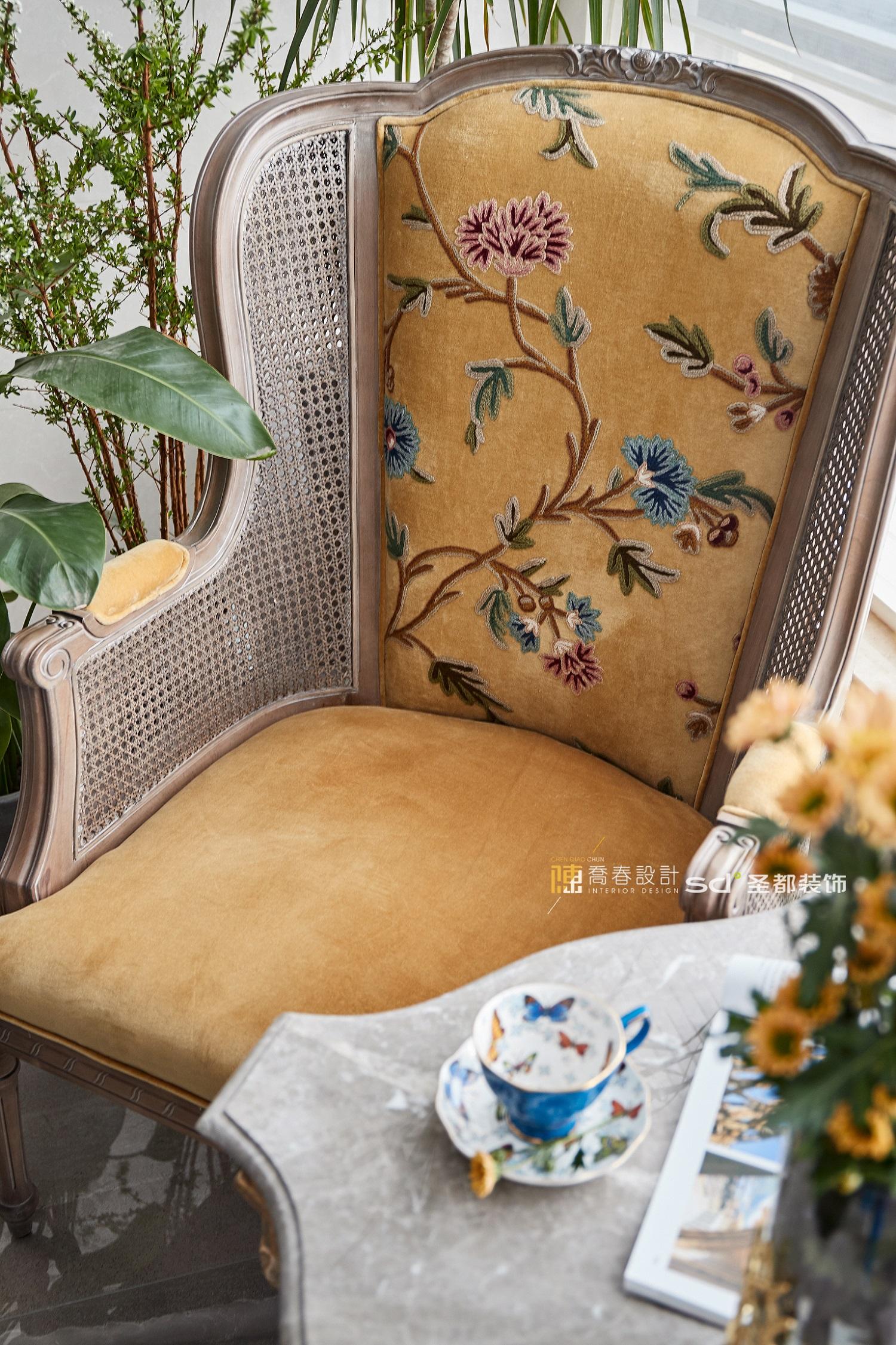 139平现代美式家单人沙发