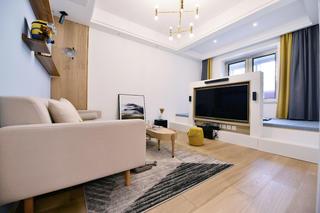 北欧二居室装修电视墙设计