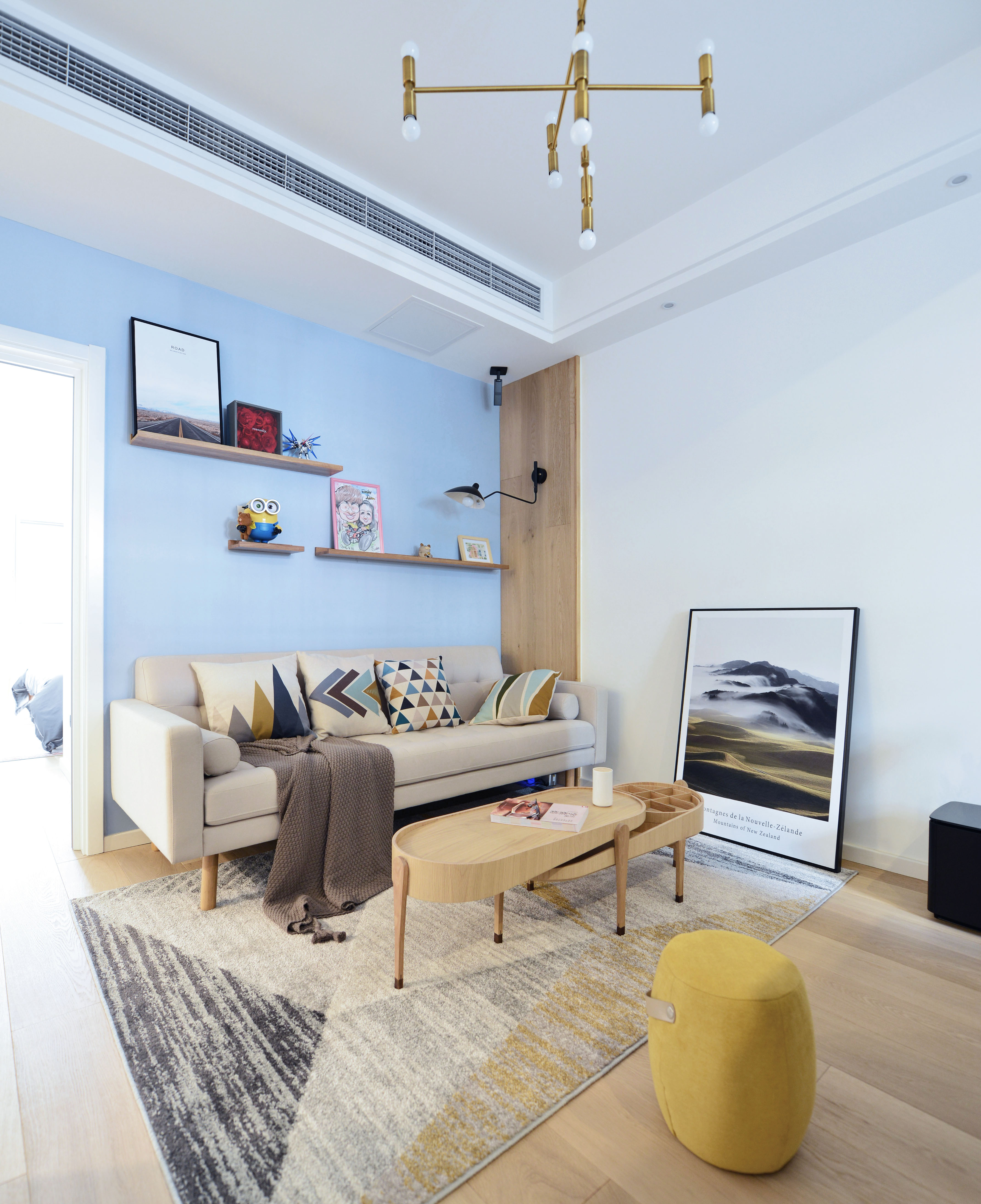 北欧二居室装修沙发背景墙图片