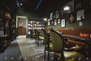 咖啡店装修照片墙