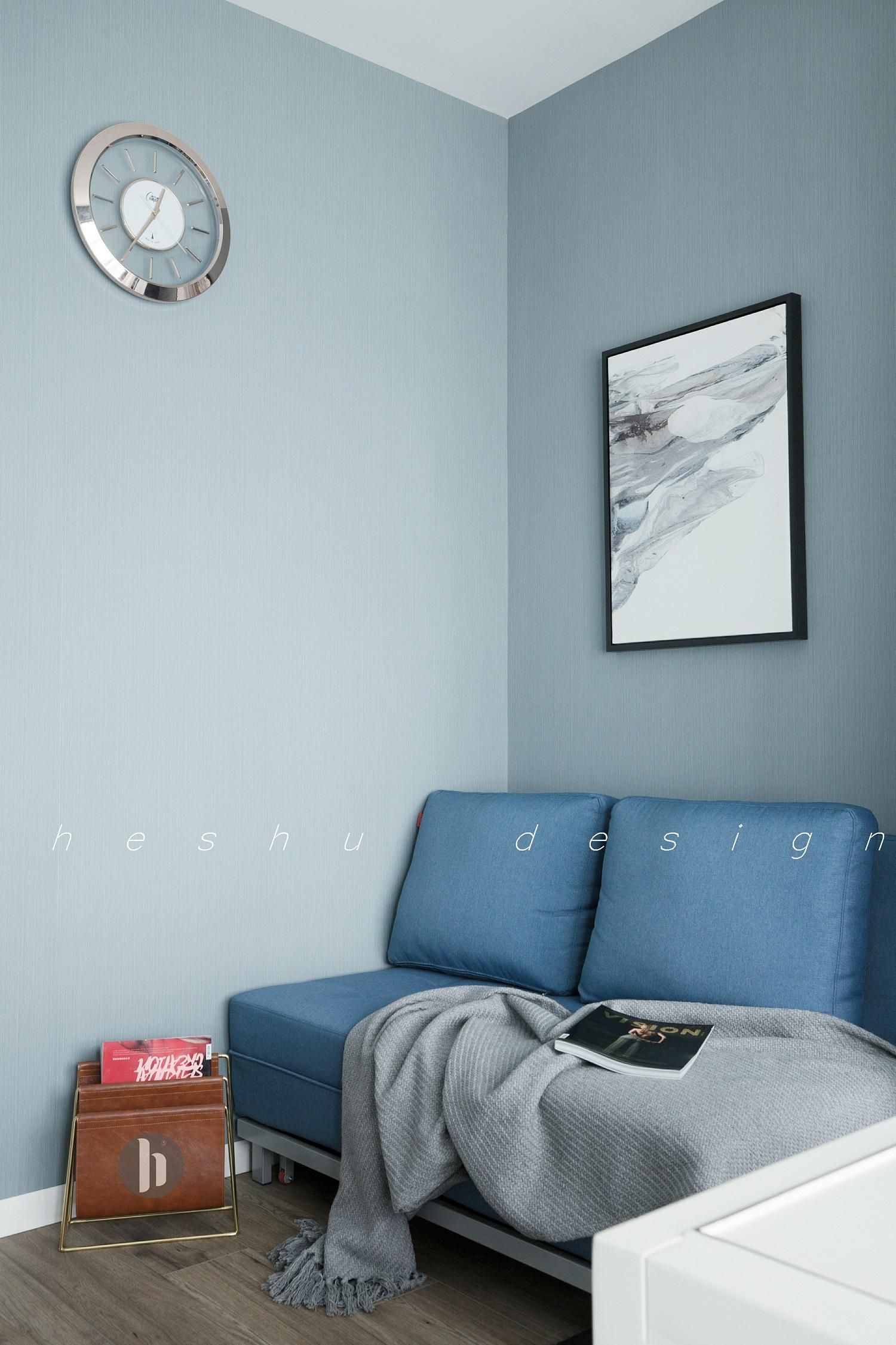 180㎡现代简约设计书房背景墙图片