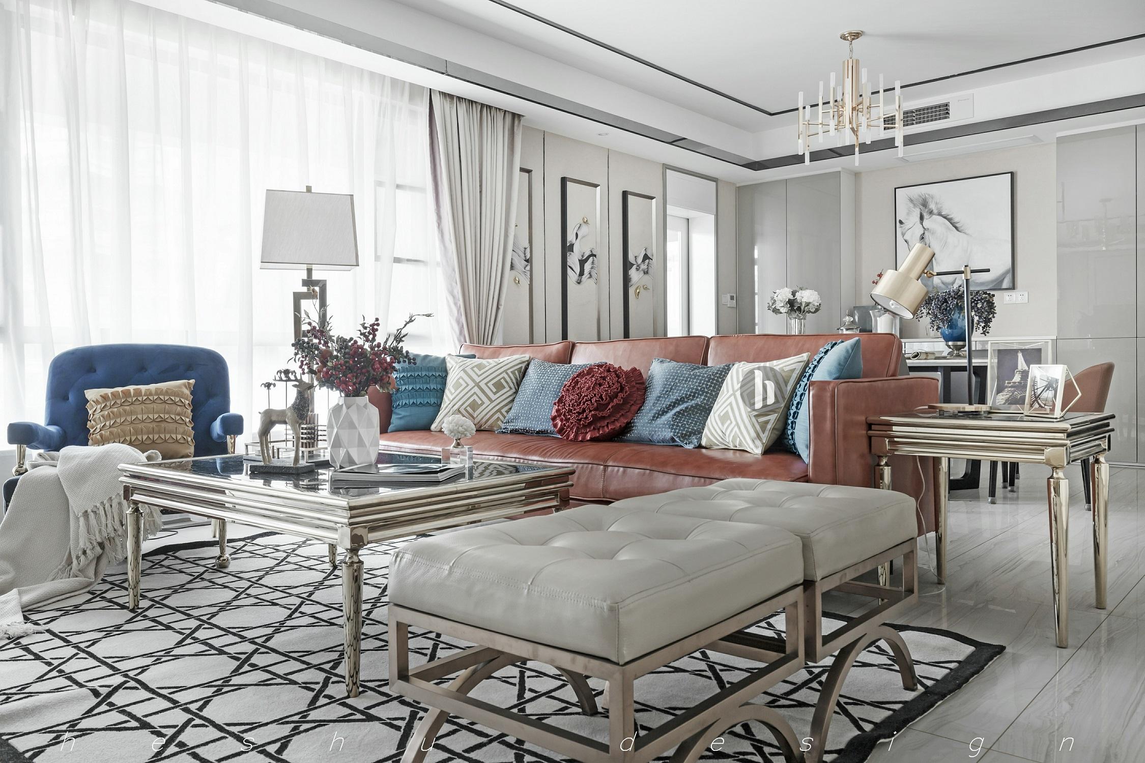180㎡现代简约设计沙发组合图片