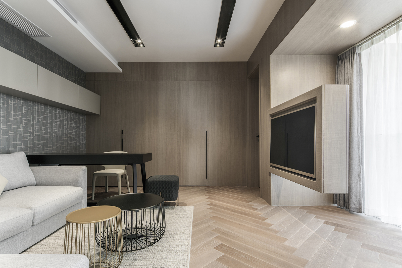 下叠别墅装修二楼客厅效果图