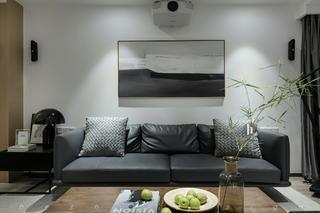 四居室简约风格家沙发背景墙图片