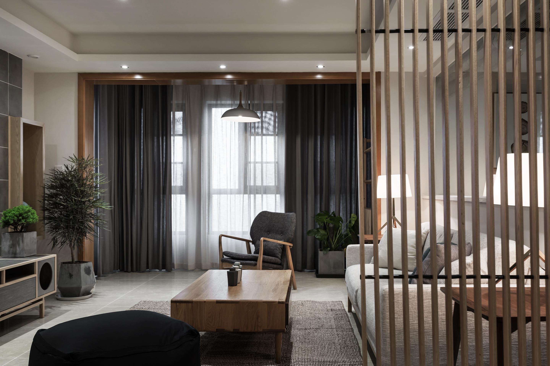 135㎡日式风格家客厅效果图