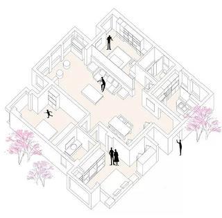 135㎡日式风格家户型图