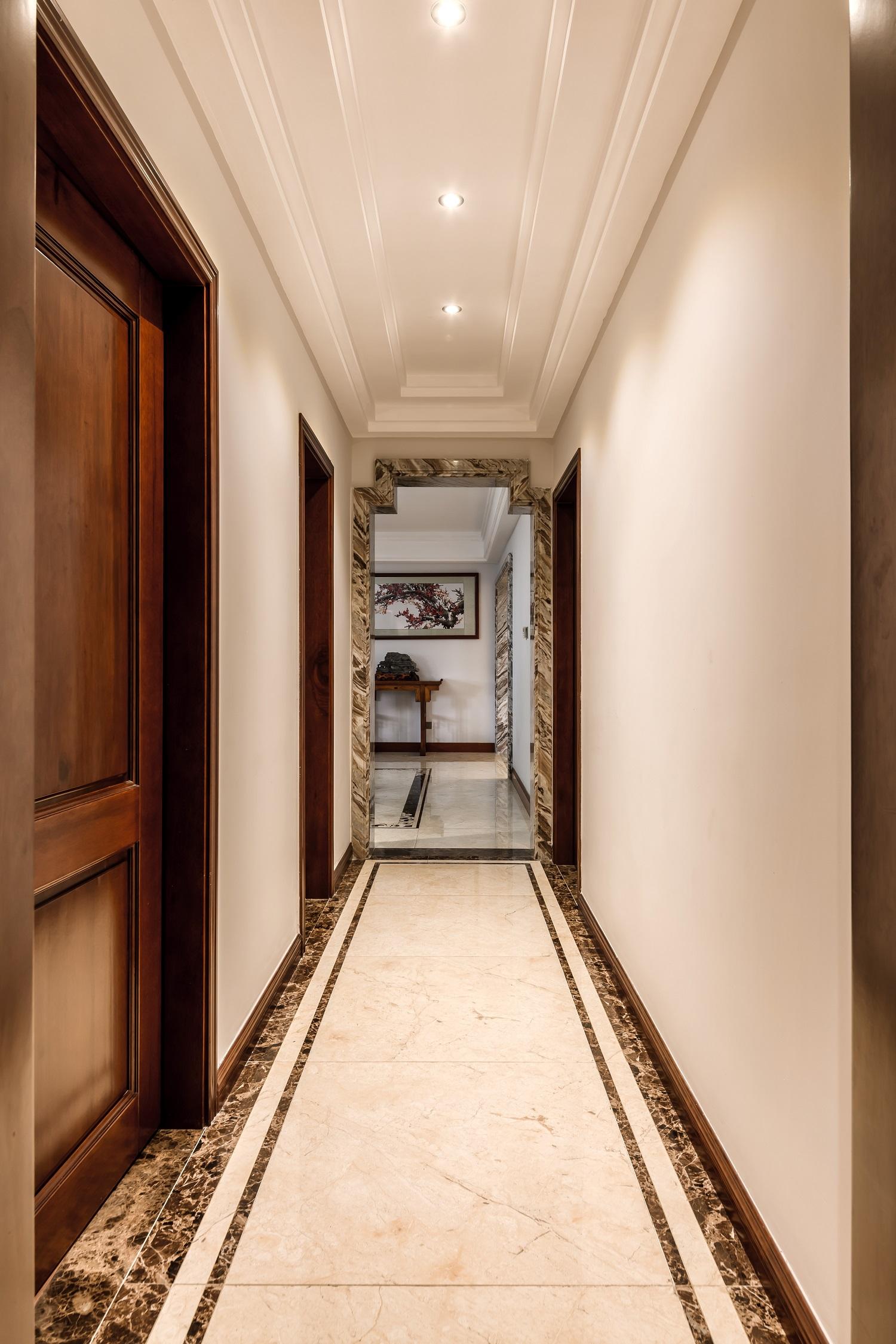 大户型中式风装修门厅过道