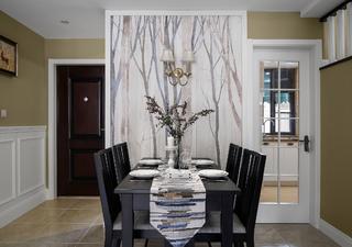 美式复式装修餐桌图片