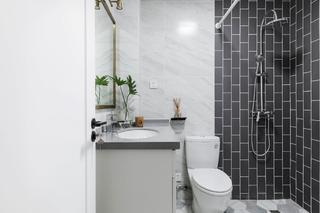 三居室北欧风之家卫生间装潢图