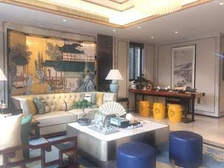 浪漫新中式装修客厅效果图