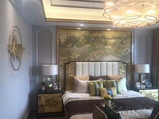浪漫新中式装修卧室效果图