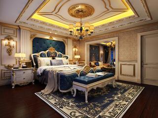 欧式别墅装修卧室效果图
